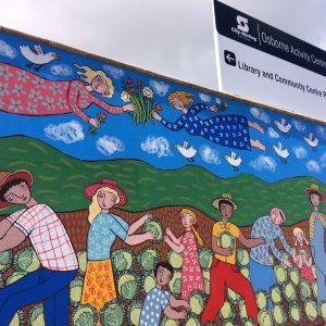 Public art mural